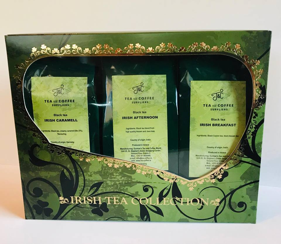 T&C IRISH BLEND BLACK TEA COLLECTION SET 3x100G