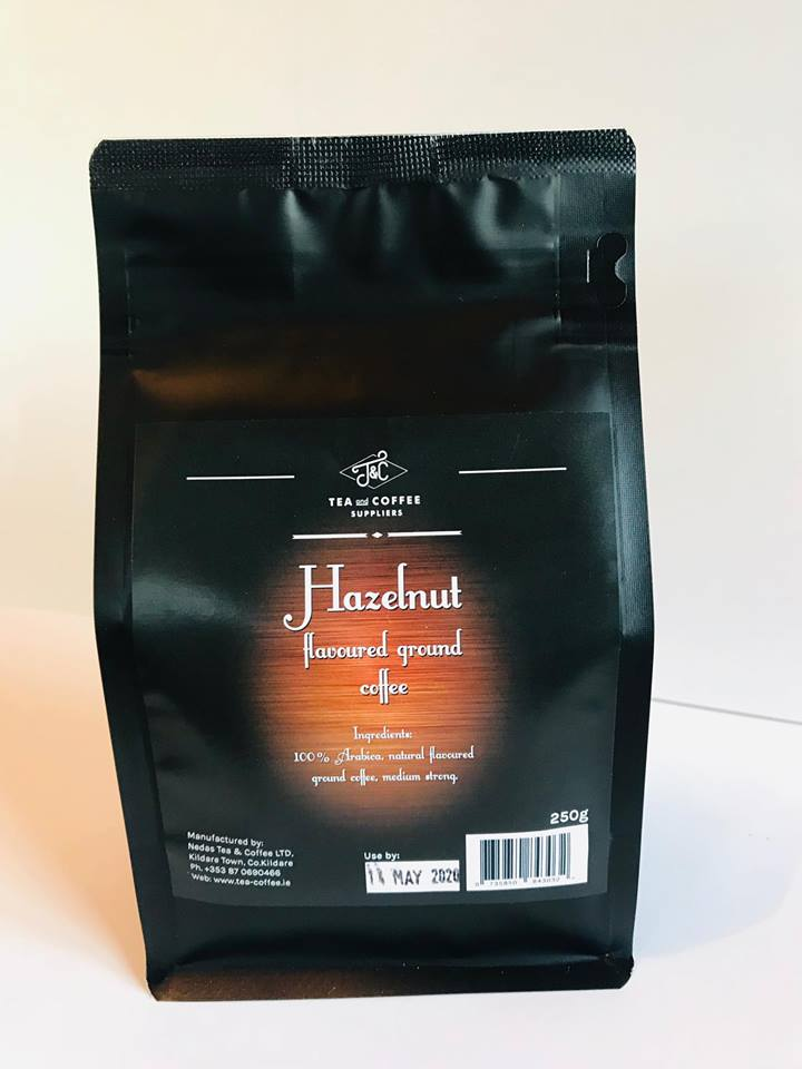 T&C HAZELNUT flavoured ready ground coffee 250 g