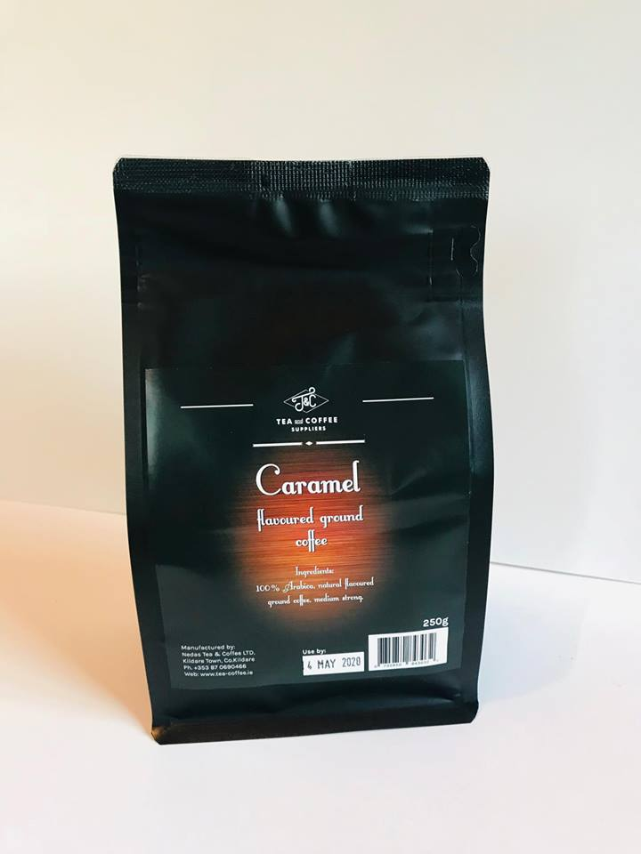 T&C CARAMEL flavoured ready ground coffee 250 g