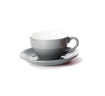 Porcelain Cup and Saucer SAARA - Grey - 0,17 l