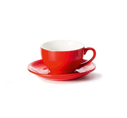 Porcelain Cup and Saucer SAARA - Red - 0,17 l